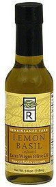 olive oil extra virgin, lemon basil infused Renaissance Farm Nutrition info