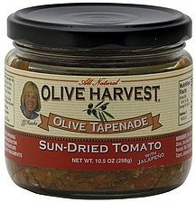 olive tapenade sun-dried tomato Olive Harvest Nutrition info