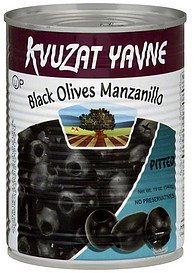 olives black, manzanillo, pitted Kvuzat Yavne Nutrition info