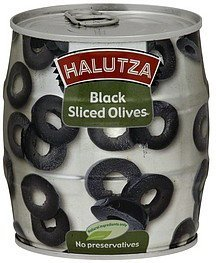 olives black, sliced Halutza Nutrition info