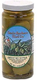 olives, country style Santa Barbara Olive Co. Nutrition info