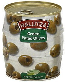 olives green pitted Halutza Nutrition info