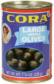 olives large whole Cora Nutrition info