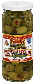 olives manzanilla, hot stuffed Bell View Nutrition info