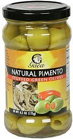 olives natural pimento stuffed green Gaea Nutrition info