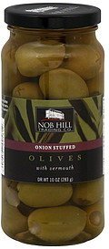 olives onion stuffed Nob Hill Trading Co. Nutrition info