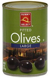 olives pitted, large Sunny Select Nutrition info