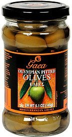 olives pitted olympian green Gaea Nutrition info