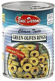 olives rings green Bnei Darom Nutrition info