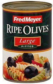 olives ripe, pitted, large Fred Meyer Nutrition info