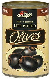 olives ripe pitted, small Price Chopper Nutrition info