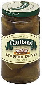 olives stuffed, garlic Giuliano Nutrition info