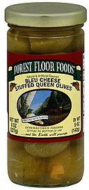 olives stuffed queen, bleu cheese Forest Floor Foods Nutrition info
