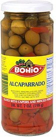 olives with capers and minced pimento Bohio Nutrition info