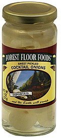 onions cocktail, sweet pickled Forest Floor Foods Nutrition info