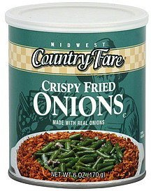 onions crispy fried Midwest Country Fare Nutrition info