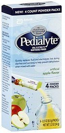 oral electrolyte maintenance powder powder packs, apple flavor Pedialyte Nutrition info