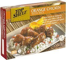 orange chicken with rice Top Shelf Nutrition info