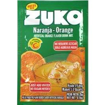 orange drink mix Zuko Nutrition info