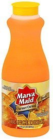 orange drink Marva Maid Nutrition info