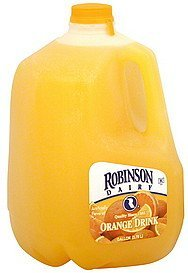 orange drink Robinson Dairy Nutrition info