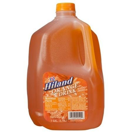 orange drink Hiland Nutrition info