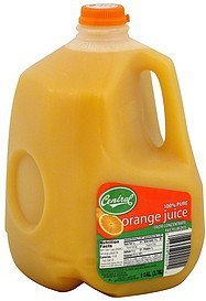 orange juice 100% pure, from concentrate Central Nutrition info