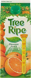 orange juice premium natural with some pulp Tree Ripe Nutrition info
