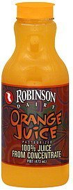 orange juice Robinson Dairy Nutrition info