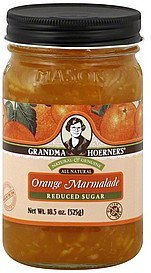 orange marmalade reduced sugar Grandma Hoerners Nutrition info