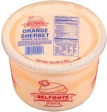 orange sherbet Belfonte Nutrition info