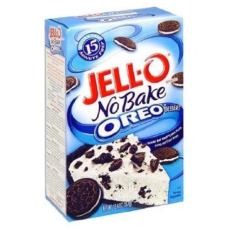 oreo no bake dessert mix Jell-o Nutrition info