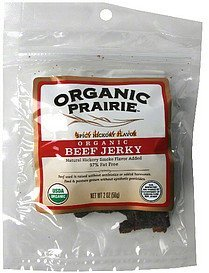 organic beef jerky spicy hickory flavor Organic Prairie Nutrition info