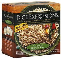 organic brown rice whole grain Rice Expressions Nutrition info