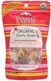 organic candy drops assorted Yummy Earth Nutrition info