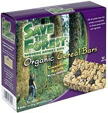 organic cereal bars cinnamon raisin with yogurt Save the Forest Nutrition info