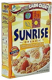 organic cereal Sunrise Nutrition info