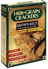 organic crackers brown rice Hol-Grain Nutrition info