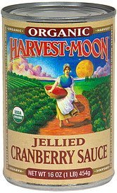 organic cranberry sauce jellied Harvest Moon Nutrition info
