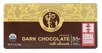 organic dark chocolate bar with almonds Equal Exchange Nutrition info