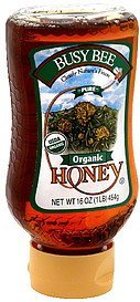 organic honey pure Busy Bee Nutrition info