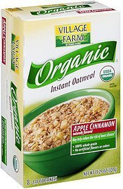 organic instant oatmeal apple cinnamon Village Farm Nutrition info
