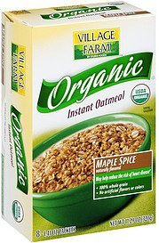 organic instant oatmeal maple spice Village Farm Nutrition info