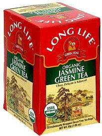 organic jasmine green tea Long Life Nutrition info