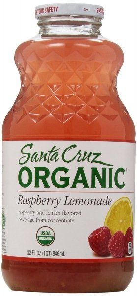 organic lemonade raspberry Santa Cruz Nutrition info