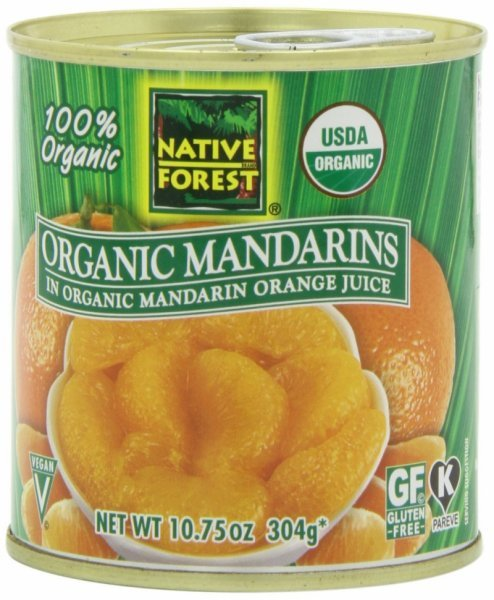 organic mandarin oranges Native Forest Nutrition info