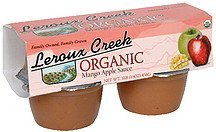 organic mango apple sauce Leroux Creek Nutrition info