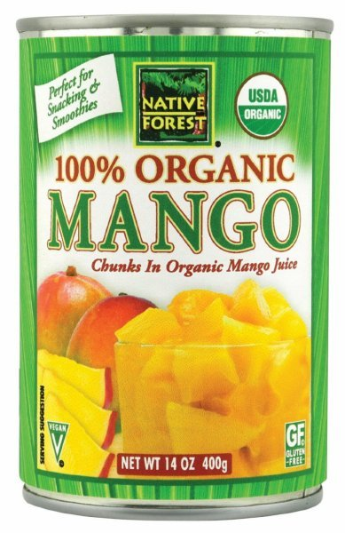 organic mango chunks Native Forest Nutrition info