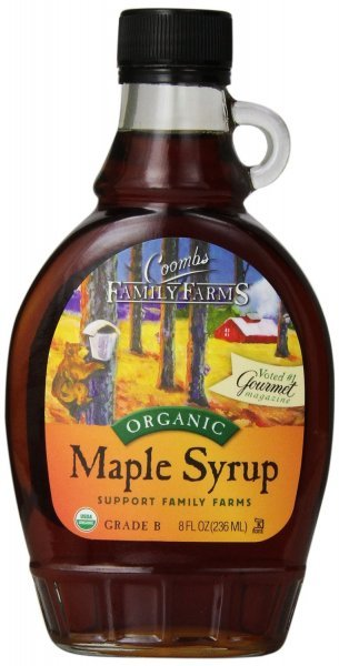 organic maple syrup grade b Coombs Family Farms Nutrition info