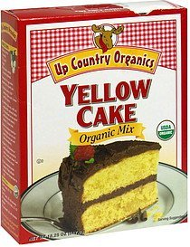 organic mix yellow cake Up Country Organics Nutrition info